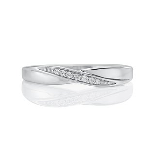 Platinaire 1/20ct TDW Diamond Wedding Band (I-J, I2)