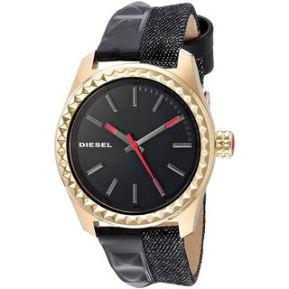 Diesel Women's DZ5529 'Kray Kray' Black Leather Watch