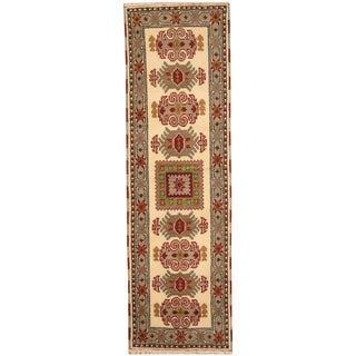 Herat Oriental Indo Hand-knotted Tribal Kazak Wool Rug (2'1 x 6'5)