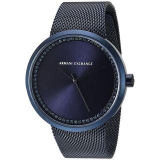 Armani Exchange Women's AX4504 'Street' Crystal Blue Stainless Steel Watch