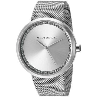 Armani Exchange Women's AX4501 'Street' Crystal Stainless Steel Watch