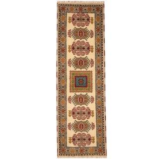 Herat Oriental Indo Hand-knotted Tribal Kazak Wool Rug (2'2 x 7')