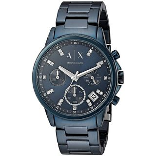 Armani Exchange Women's AX4337 'Active' Chronograph Crystal Blue Stainless Steel Watch