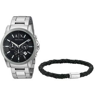 Armani Exchange Men's AX7100 'Smart' Chronograph Bracelet Gift Set Stainless Steel Watch