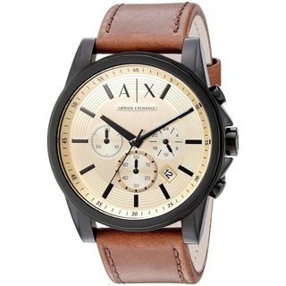 Armani Exchange Men's AX2511 'Smart' Chronograph Brown Leather Watch