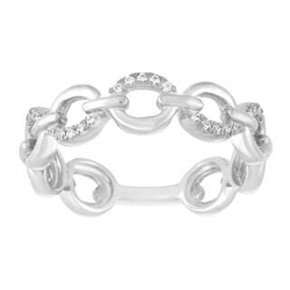 Sterling Silver 1/10ct TDW Diamond Infinity Wedding Band - White I-J
