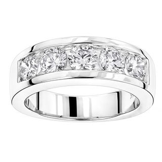 Luxurman 14k Gold Men's 2ct TDW Round Diamond 5-stone Wedding Band|https://ak1.ostkcdn.com/images/products/13475723/P20162242.jpg?_ostk_perf_=percv&impolicy=medium