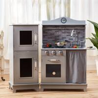 Teamson Kids Grey Farmhouse Kitchen