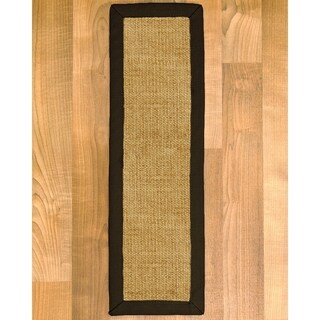 "Handcrafted Zamora Malt Sisal Carpet Stair Treads 9"" x 29"" (Set of 13)"