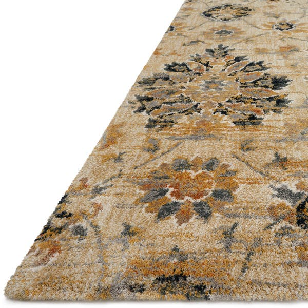 Transitional Taupe Fl Damask Rug