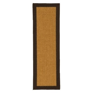 """Handcrafted Portugal Black Sisal Carpet Stair Treads 9"""" x 29"""" (Set of 13)"""