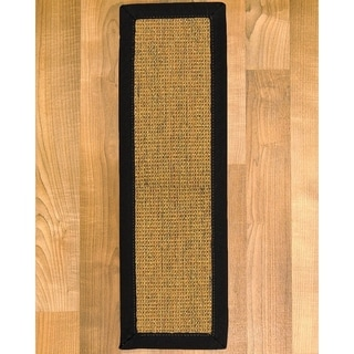 """Handcrafted Sorrento Onyx Sisal Carpet Stair Treads 9"""" x 29"""" (Set of 13)"""