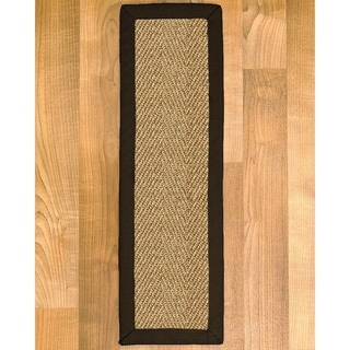 "Handcrafted Capri Black Sisal Carpet Stair Treads 9"" x 29"" (Set of 13)"