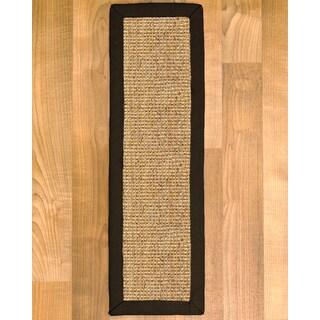 "Handcrafted Carmel Fudge Sisal Carpet Stair Treads 9"" x 29"" (Set of 13)"