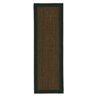"""Handcrafted Chateau Metal Sisal Carpet Stair Treads 9"""" x 29"""" (Set of 13)"""