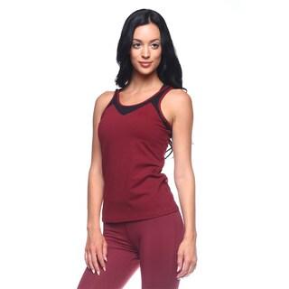 Women's Free Yoga Black Polyester Tank Top