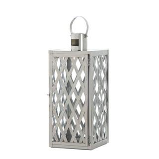 Home Locomotion Steel Lattice Design Medium Hinged Door Candle Lantern