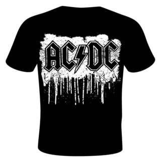 Stephen Fishwick -AC/DC 'Dripping with Excitement' Black Cotton T-shirt