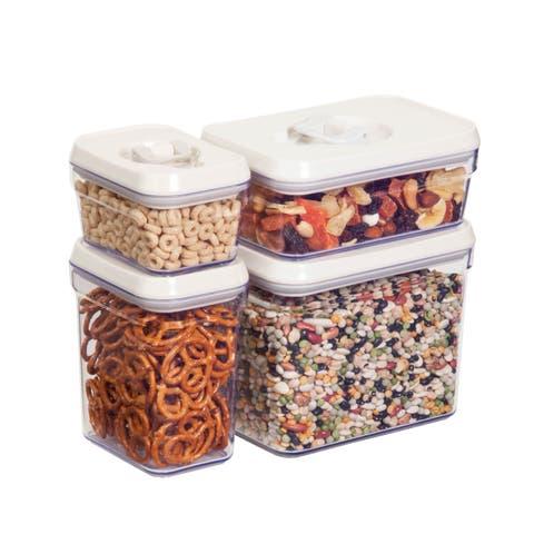 Honey-Can-Do 8pcs locking lid storage set