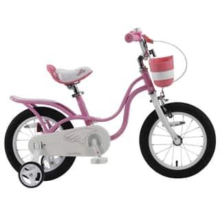 Royalbaby Little Swan Girls' Pink Bike|https://ak1.ostkcdn.com/images/products/13475912/P20162459.jpg?impolicy=medium