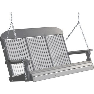 Poly 5 Foot Classic Highback Outdoor Porch Swing