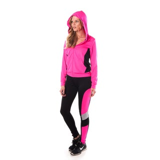 Special One Women's Pink Active Sport Yoga/ Zumba 3-piece Set