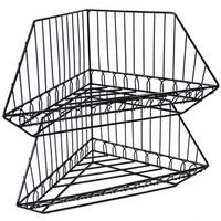 Ikee Design Black Metal Wire Stackable Corner Rack Set (2-piece Set)