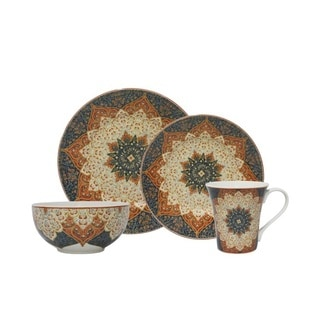 Kashan Terracotta Porcelain 16-piece Dinnerware Set