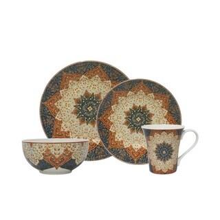 Kashan Terracotta Porcelain 16-piece Dinnerware Set