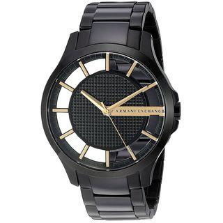 Armani Exchange Men's 'Smart' Black Stainless Steel Watch