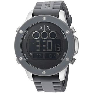 Armani Exchange Men's AX1562 'Street' Digital Grey Stainless Steel Watch