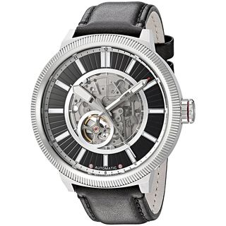 Armani Exchange Men's AX1418 'Street' Automatic Black Leather Watch