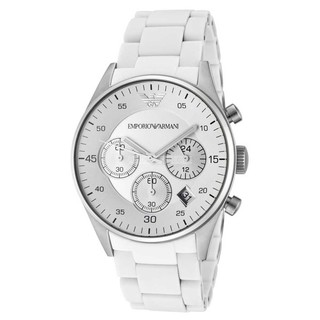 Emporio Armani AR5859 Mens White Sport Chronograph Watch