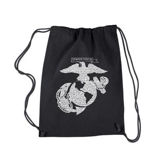 LA Pop Art Lyrics to the Marines Hymn Drawstring Backpack