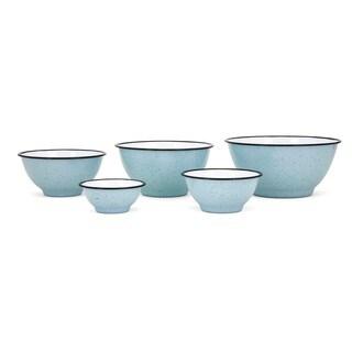 Trisha Yearwood Songbird Enamel Bowls - Set of 5