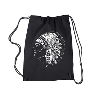 Los Angeles Pop Art Popular Native American Indian Tribes Drawstring Backpack