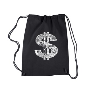 LA Pop Art Dollar Sign Drawstring Backpack