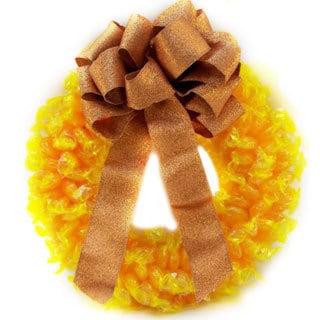 Butterscotch Disc Wreath