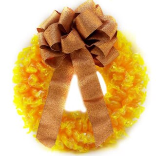 Butterscotch Disc Wreath