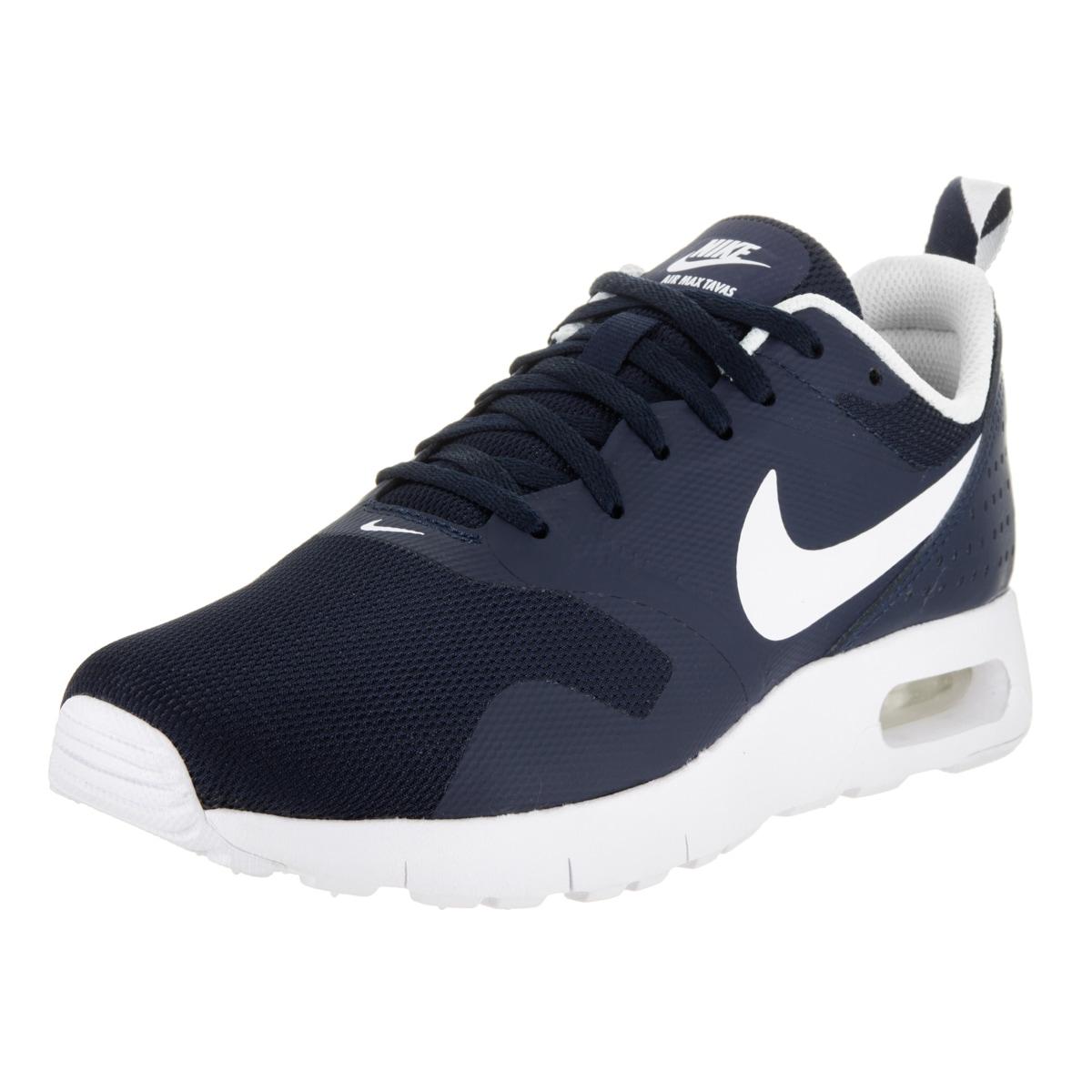 Nike Kids' Air Max Tavas (GS) Blue Synthetic Leather Runn...