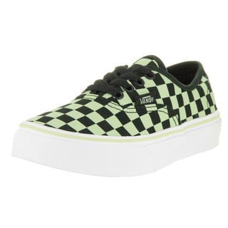 Vans Kids Authentic Glow Check Skate Shoe