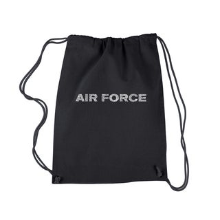 Los Angeles Pop Art 'The Air Force Song' Lyrics Drawstring Backpack