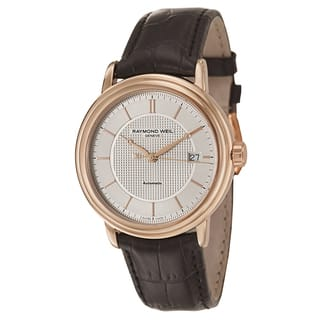 Raymond Weil Maestro Automatic Date Rose Gold PVD Coated Leather Strap Men's Watch|https://ak1.ostkcdn.com/images/products/13476197/P20162684.jpg?impolicy=medium
