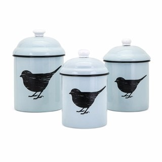 Trisha Yearwood Songbird Enamel Canisters - Set of 3
