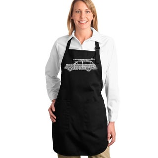 Los Angeles Pop Art Classic Surf Songs Woody Full Length Apron