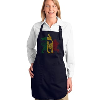 Los Angeles Pop Art Rasta Lion One Love Full Length Apron