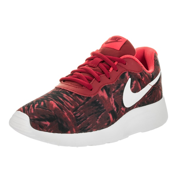 Nike women 39 s tanjun red print running shoes free for Fish tennis shoes