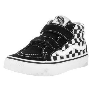 Vans Kids' Sk8-Mid Reissue V Black Canvas Skate Shoes