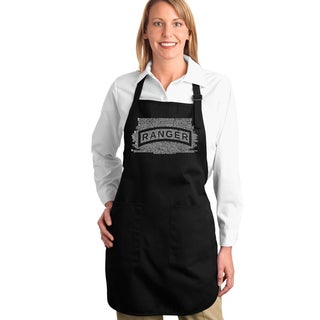 Los Angeles Pop Art The U.S. Ranger Creed Full-length Apron