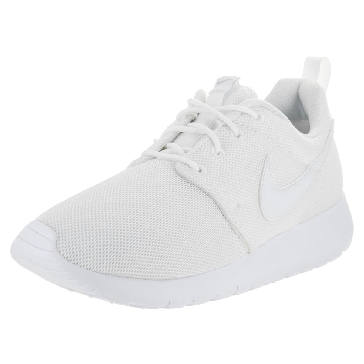 Nike Kids' Roshe One (GS) White Running Shoe (6), Boy's